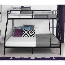 Bunk Bed Mainstays Twin Over Full Metal Bunk Bed Black Walmartcom