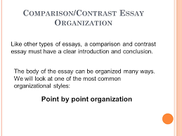comparison and contrast essays ppt video online 3 comparison contrast essay organization