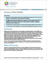 Ecstasy Or Molly Mdma Canadian Drug Summary Canadian