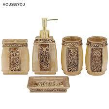 Brown Bathroom Accessories Popular Resin Bathroom Accessories Set Buy Cheap Resin Bathroom