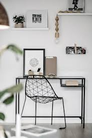 minimal office. Minimal Home Office Space With Wire Chair O