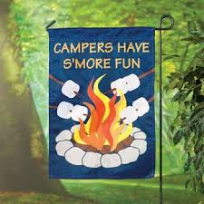 camping garden flag. amazon.com: camping campers have smore fun mini garden flag decor: patio, p