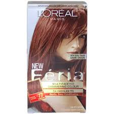 Feria Multi Faceted Shimmering Color 3x Highlights 77 Bright Auburn Warmer By Loreal