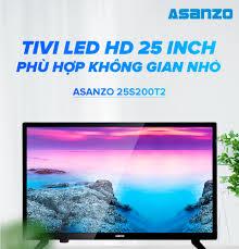 Tivi LED HD 25 Inch Asanzo 25S200T2 (HDMI VGA AV Truyền Hình Số Mặt Đất Âm  Thanh Vòm Ảo Dolby) - Tivi Gía Rẻ Hàng Mới 100% Chính Hãng Bảo Hành 2 Năm