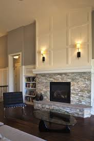 fireplace ideas tile on the bottom simple mantle over and then bead board above