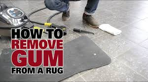 how to remove gum from a rug steam cleaning dupray steam cleaners