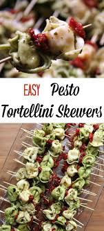 Easy Pesto Tortellini Skewers