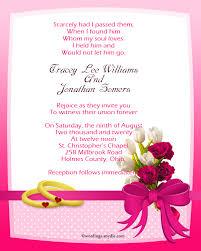 Wedding Inviting Words Christian Wedding Invitation Wording Samples Wordings And