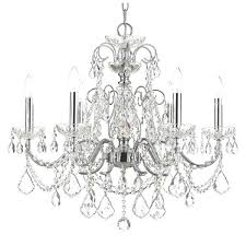 destrie 6 light crystal chandelier imperial chrome free