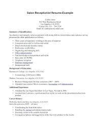 Sample Medical Secretary Resume Medical Receptionist Resume Sample