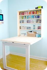 space saving desks space. It\u0027s A Craft Desk That\u0027s Folds Up Out Of The Way! Andrea And Her Husband Share All Details On How To Make Your Own Bubblewrapp\u0027d. Space Saving Desks 0
