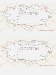 Best Sassy Make A Printable Gift Certificate Online Free