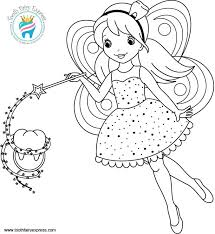 Small Picture Collection of Solutions Tooth Fairy Coloring Pages Also Sample