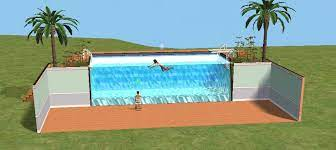 mod the sims swimming pool wall just