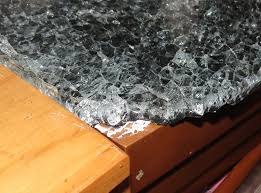 shattered glass countertop