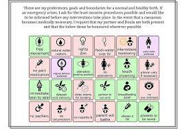 birth plan visual visual birth plan icons rome fontanacountryinn com