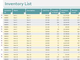 Office Inventory List Template Inventory List Templates Office Com Sales Template