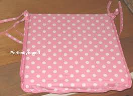 seat chair pad cushion pink polka dot spot retro kitchen garden