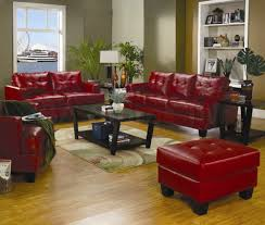 Leather Chair Living Room Simple Design Red Leather Living Room Furniture Wondrous