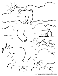 Groundhog Coloring Dot To Dot Coloring