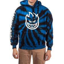 spitfire hoodie black. spitfire bighead hoodie - tie dye blue black h