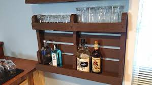 diy pallet wood liquor cabinet home