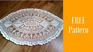 Oval Crochet Doily Patterns Free Delectable Oval Crochet Doily PATTERNhow To Crochet Oval Doilysimple Crochet