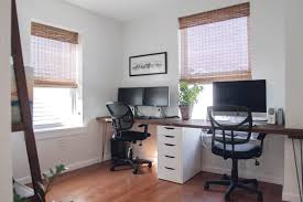 home office two desks. Home Office Two Desks. Before + After: A Makeover With Space For Desks T