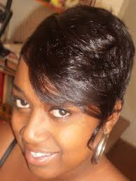short hairstyles using weave