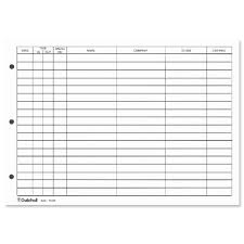 Office Guest Book Guildhall Refill For Loose Leaf Visitors Book 50 Sheets A4 Ref T40 Rz