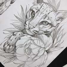 рисунок карандашом пума рисунки Art идеи для татуировок