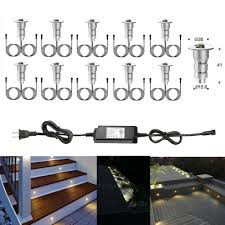Details About 10x 12v Warm White Half Moon Outdoor Terrace Patio Yard Led Deck Step Lights Set