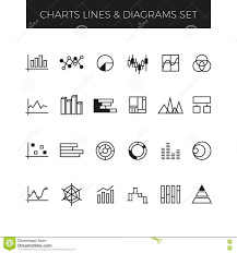 Business Line Vector Charts Graphs And Diagrams Set Stock