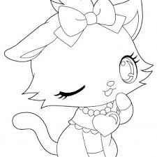 Holiday Coloring Cute Cat Coloring Pages