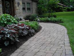 Brick walkway with plants. Find this Pin and more on front yard landscape  ...