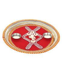 Rakhi Thali Design Indeasia Srijan Handcrafted Decorated Puja Thali Rakhi Thali