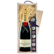a single bottle of moet chandon brut imperial chagne a single strip of