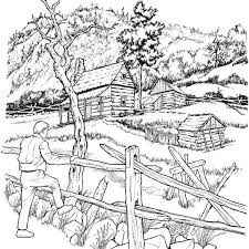 Imposing Design Detailed Landscape Coloring Pages For Adults Nature