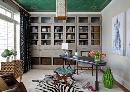 professional office decorating ideas pictures. green ceiling ideas with chic desk for smart professional office decorating black printed curtain pictures