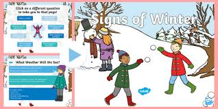 Winter Powerpoint Eyfs Ks1 Signs Of Winter Powerpoint Cold Year 1 Year 2