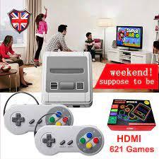 Siêu SNES Mini HD Họ Tivi 8 Bit Máy Chơi Game Đầu Ra TV Máy Chơi Game Cầm  Tay Người Chơi Xây Dựng Năm 621 retro Trò Chơi Cổ Điển