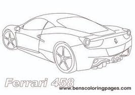 Ferrari 458 Sports Car Coloring Page