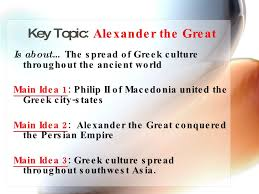 ... 4. Key Topic : Alexander the Great ...