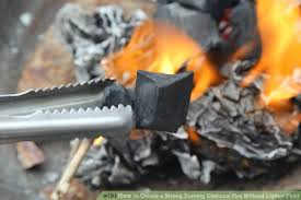 image titled create a strong burning charcoal fire without lighter fluid step 13