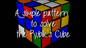 Rubik's Cube Pattern To Solve Impressive How To Solve The Rubik's Cube A Simple 48 Step Pattern Easy YouTube