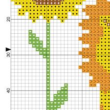 Lion And Sunflowers Cross Stitch Pattern