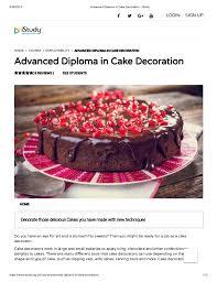 Advanced Diploma In Cake Decoration Istudy