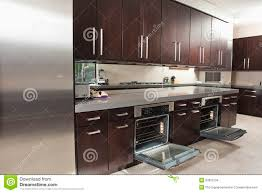 open oven in kitchen. commercial empty interior kitchen open oven in dreamstime.com