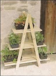 Wooden Ladder Display Stand Wooden Ladder Plant Stand Outdoor Indoor Three Layer Shelf Book 99