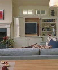 Hidden Tv Cabinets Alluring Modern Tv Cabinet In White Accent With Hidden Storage